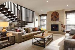簡約復式樓客廳裝飾效果圖大全