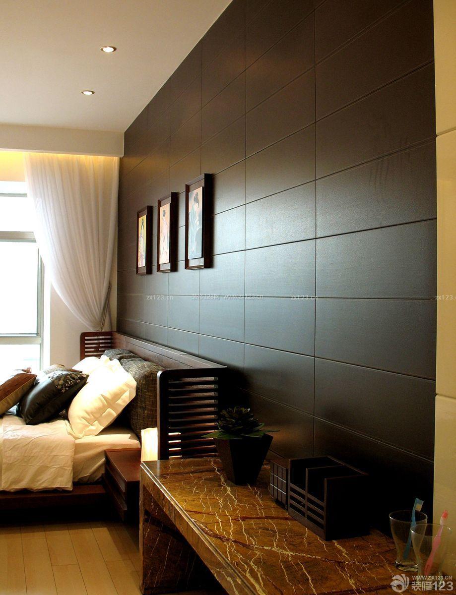 80平小房子床头背景墙装修效果图片