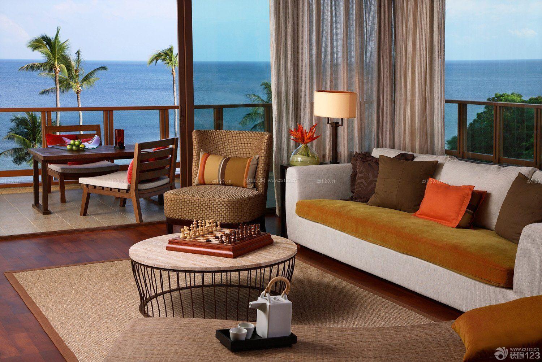 海边别墅客厅阳台装修效果图片