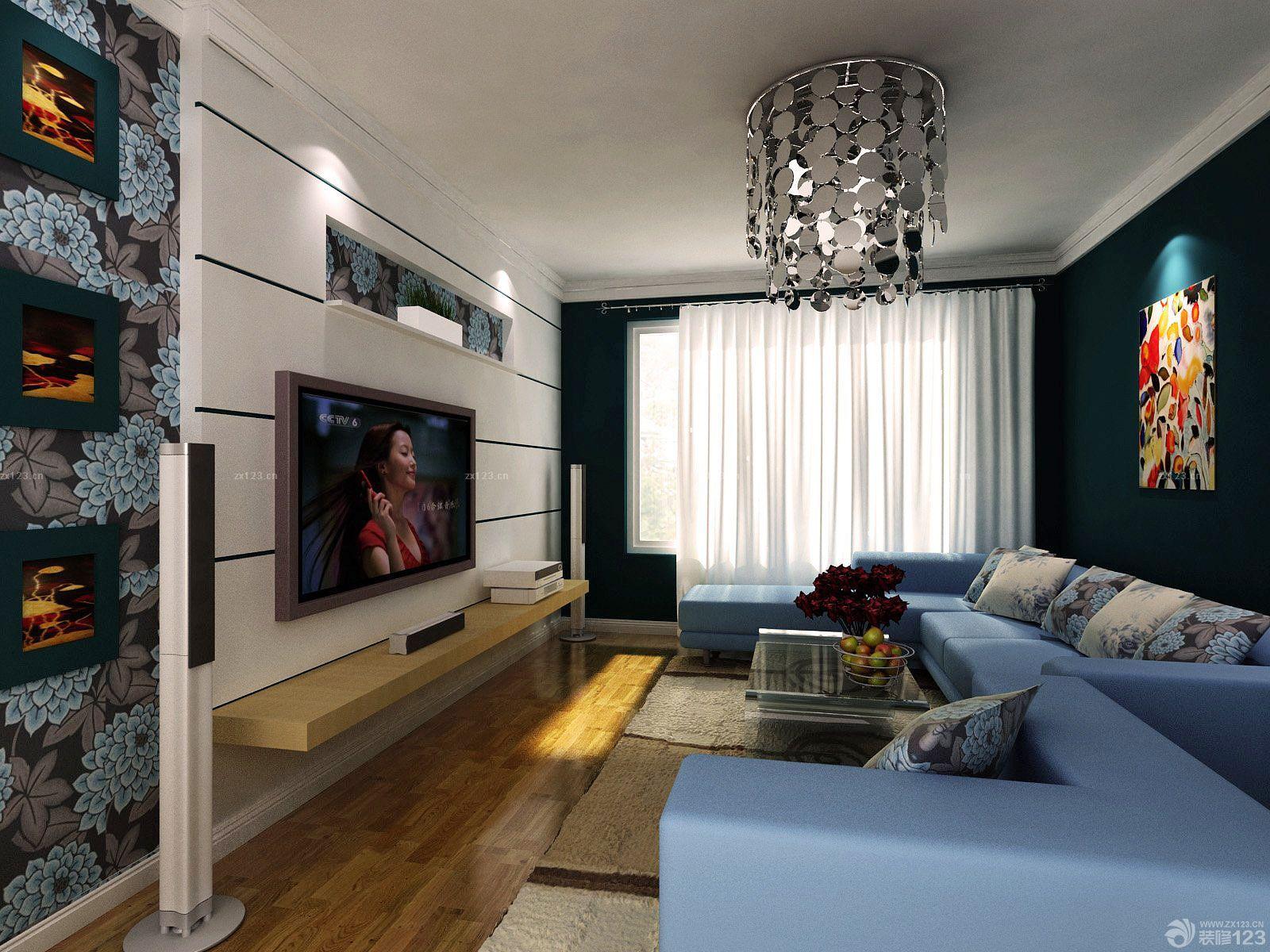 现代30平方米房子客厅装修效果图片