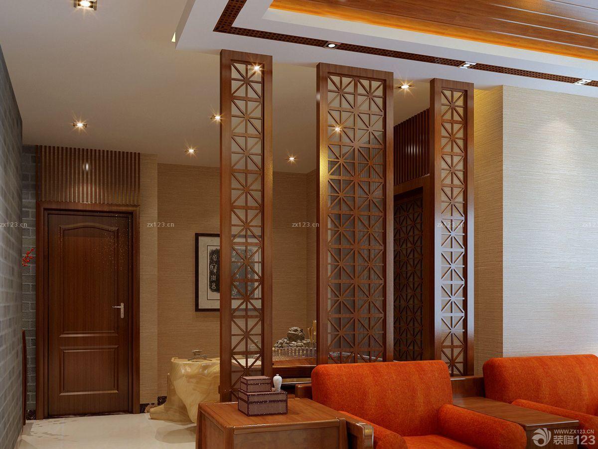 中式家装90平方长方形房子装修效果图片