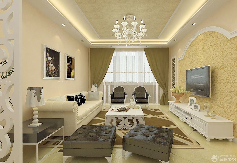 欧式新古典风格90平方房子装修效果图