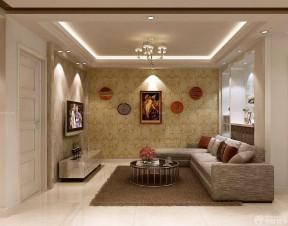 80平方的房子装修图 客厅壁纸效果图