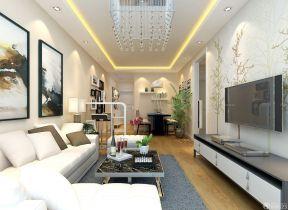 90平方房子装修效果图 室内客厅电视墙设计