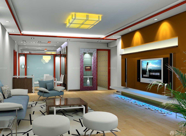 中式家装客厅影视墙效果图