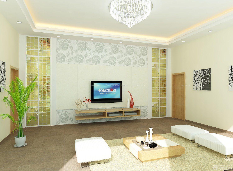 客厅简约影视墙装修效果图图片