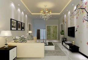 客廳影視墻 直長方形客廳裝修圖
