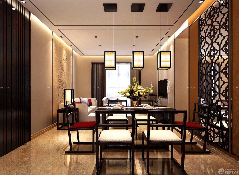 60平米两室两厅中式客厅装修效果图