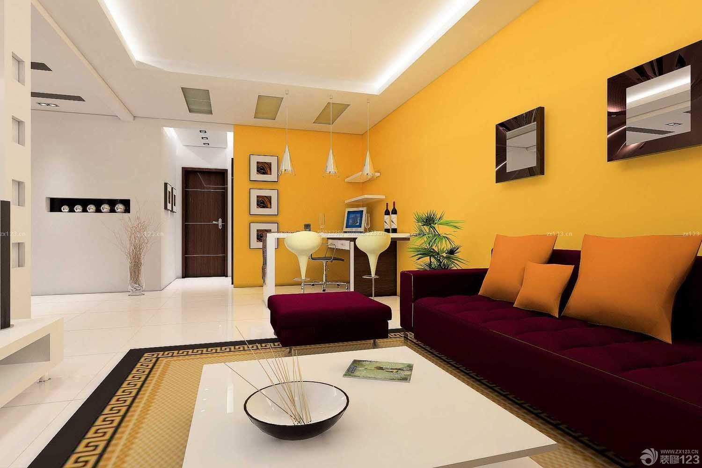 50平米两室一厅客厅墙面颜色装修效果图片