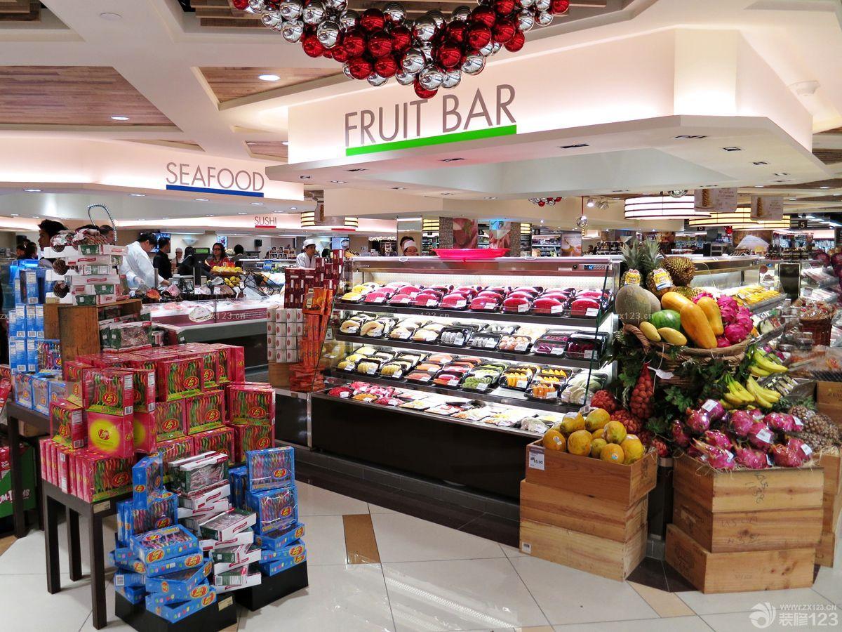 简欧式风格超市吊顶装修效果图欣赏