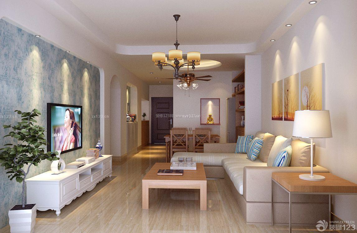 欧式80-90平方小户型客厅装修效果图片_装修123效果图