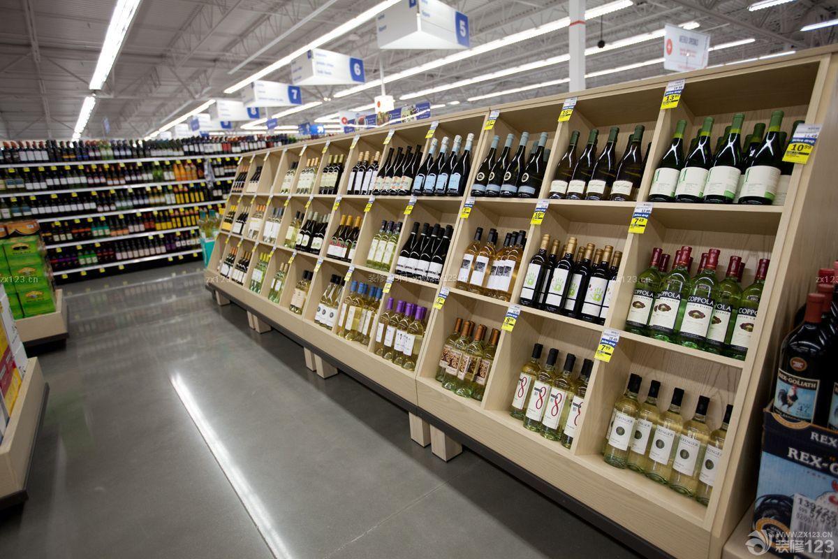商场超市酒柜设计图片_装信通网效果图