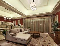 房子客厅吊灯装修设计效果图片大全120平方