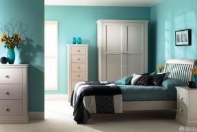 90平兩室兩廳設計圖 藍色臥室裝修效果圖
