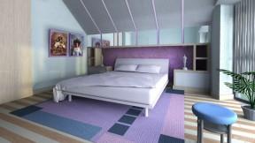 90平兩室兩廳設計圖 現代臥室