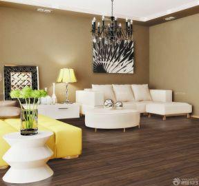 80平米兩室一廳小戶型裝修 咖啡色墻面裝修效果圖片