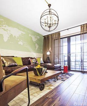 60平方兩室一廳裝修效果圖 客廳吊燈
