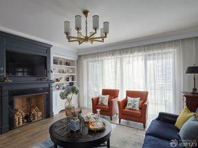 60平方兩室一廳客廳裝修效果圖 紗簾裝修效果圖片