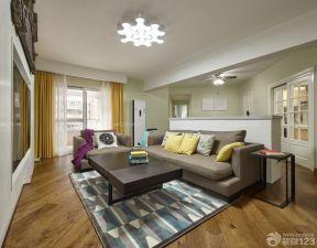 60平方兩室一廳客廳裝修效果圖 不規則客廳裝修