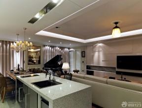 60平方兩室一廳客廳裝修效果圖 客廳餐廳一體裝修效果圖片