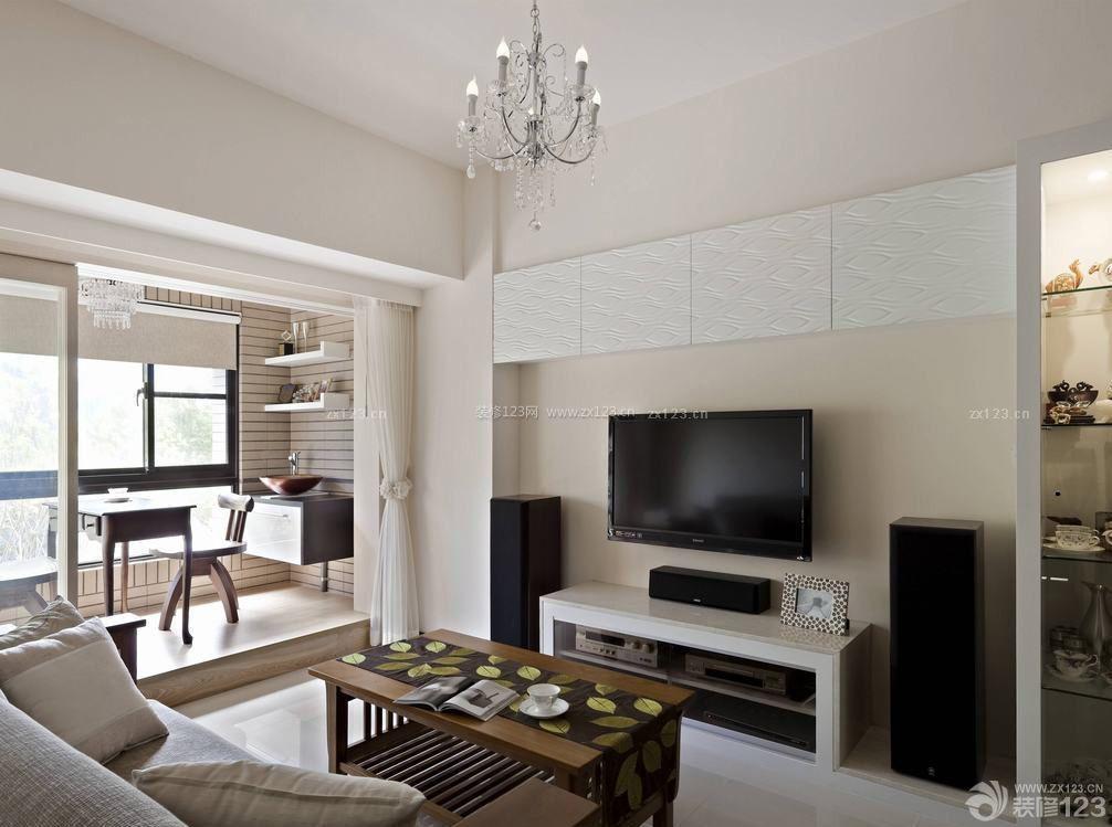 80平方米房子小客厅装修效果图片