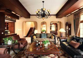 150平米房子装修效果图 美式客厅装修效果图
