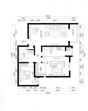 两室一厅平面图 装修123网效果图大全图片