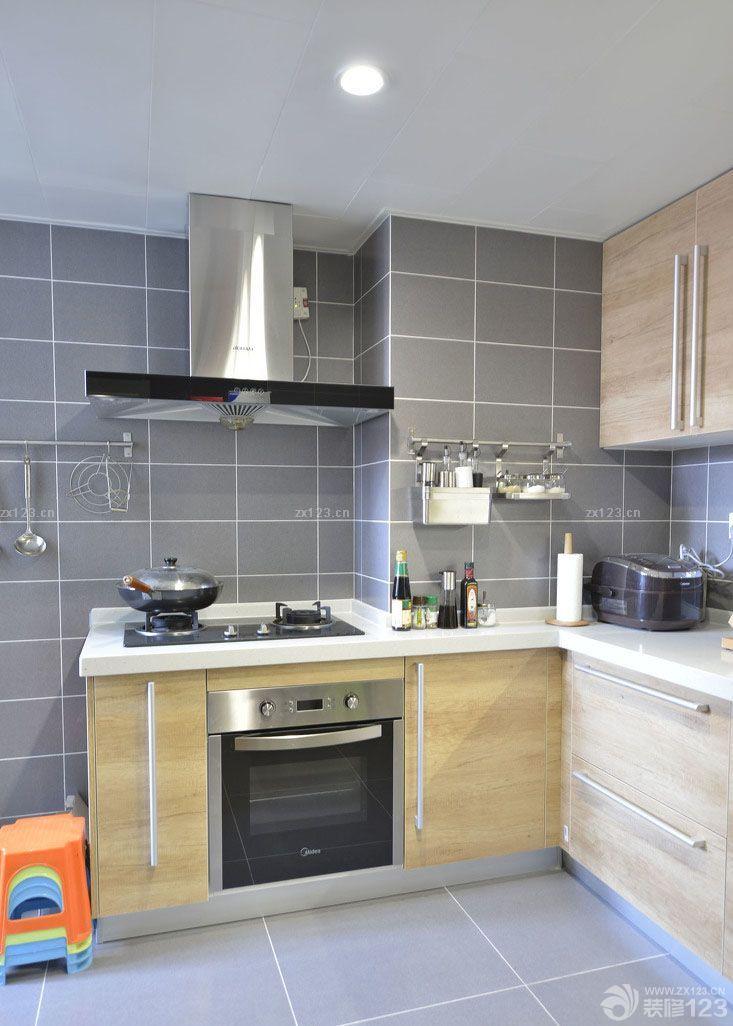 两室一厅90平房屋厨房瓷砖墙面装修效果图