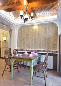 90平兩室兩廳家庭餐廳吊燈裝修案例