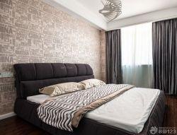 90平兩室兩廳臥室墻壁紙裝修案例