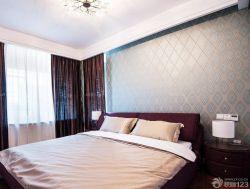 90平兩室兩廳臥室壁紙裝修案例