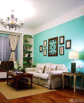 90平兩室兩廳裝修案例 客廳背景墻
