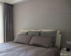 90平兩室兩廳簡約臥室壁紙裝修效果圖