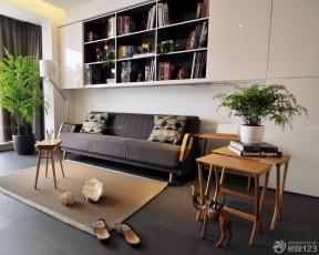 90平兩室兩廳簡約裝修 書柜效果圖