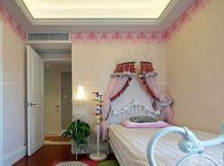 140平三室兩廳簡歐臥室壁紙裝修設計圖