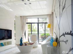50平一室一廳小戶型客廳裝飾裝修效果圖