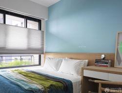 三室兩廳90平房屋臥室純色壁紙裝修效果圖片