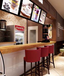 奶茶店室内吧台设计装修效果图片