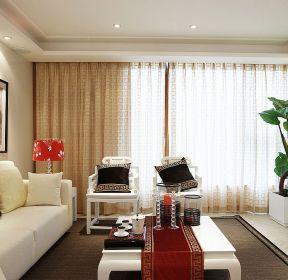 新中式风格70平米小户型婚房装修效果图-每日推荐
