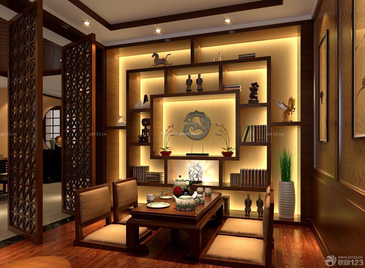 中式茶室背景墙设计图