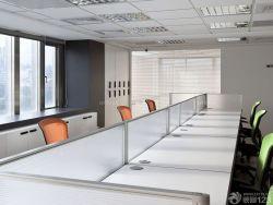 員工辦公室隔斷式辦公桌裝修效果圖片大全