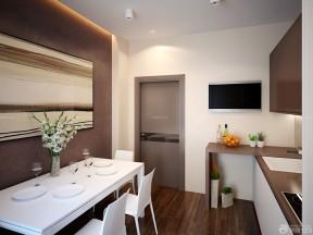 90平米三室一廳房屋裝修效果圖 咖啡色墻面裝修效果圖片