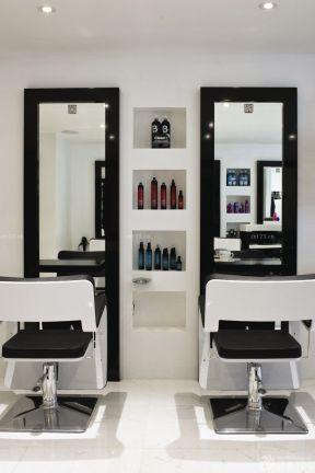 理发店吧台装修效果图片