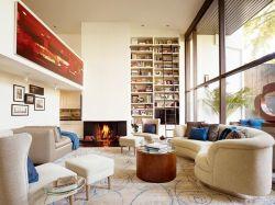 現代美式風格客廳燈具裝潢圖