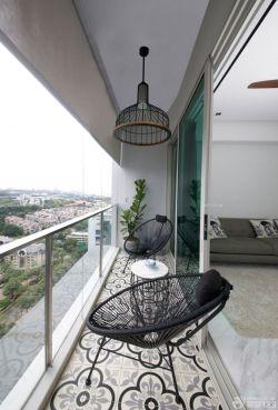 创意交换空间阳台设计异形椅子装修效果图片
