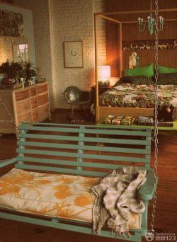 交換空間臥室秋千椅效果圖
