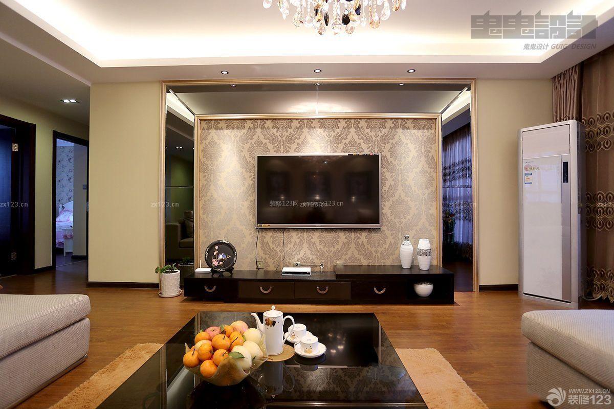 电视被景墙的装修造型 电视景墙效果图2016客厅电视