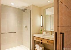 現代簡約家裝衛生間玻璃隔斷圖片