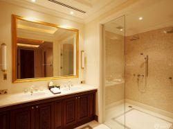 簡約室內裝修衛生間玻璃隔斷裝修圖片