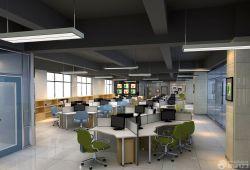 現代簡約風格辦公室辦公桌隔斷裝修圖